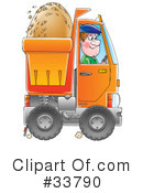 Royalty-Free (RF) dump truck Clipart Illustration #33790