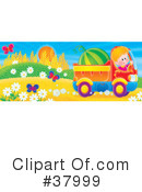Royalty-Free (RF) dump truck Clipart Illustration #37999