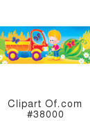 Royalty-Free (RF) dump truck Clipart Illustration #38000