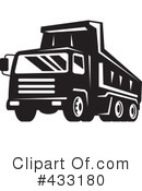 Royalty-Free (RF) dump truck Clipart Illustration #433180