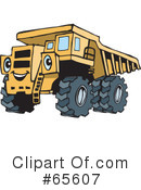 Royalty-Free (RF) dump truck Clipart Illustration #65607