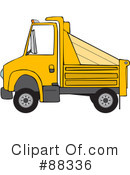 Royalty-Free (RF) dump truck Clipart Illustration #88336