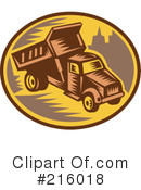 Royalty-Free (RF) dumptruck Clipart Illustration #216018