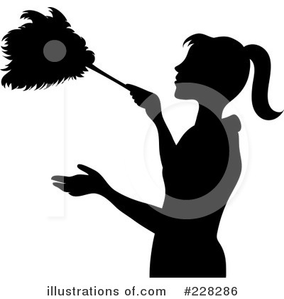 Royalty-Free (RF) Dusting Clipart Illustration by Pams Clipart - Stock Sample #228286