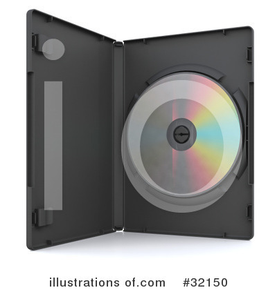 Royalty-Free (RF) Dvd Clipart Illustration by KJ Pargeter - Stock Sample #32150