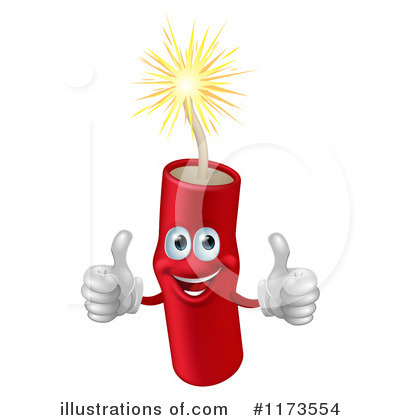 Fireworks Clipart #1173554 by AtStockIllustration