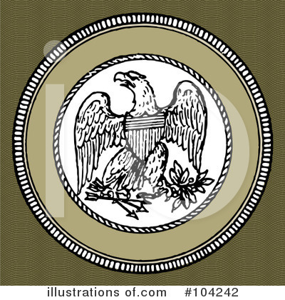 Royalty-Free (RF) Eagle Clipart Illustration by BestVector - Stock Sample #104242