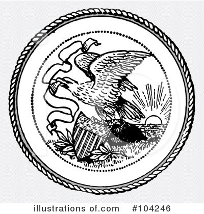 Royalty-Free (RF) Eagle Clipart Illustration by BestVector - Stock Sample #104246