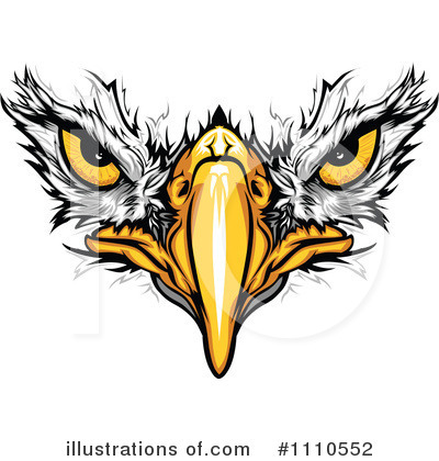 Royalty-Free (RF) Eagle Clipart Illustration by Chromaco - Stock Sample #1110552