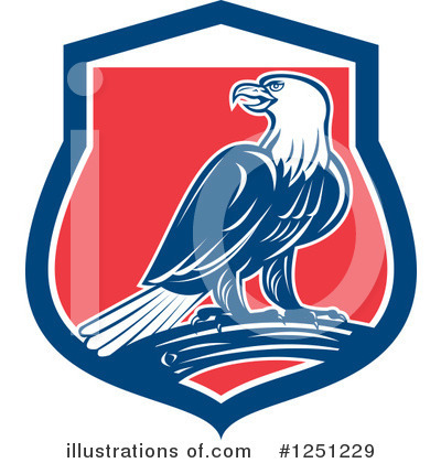 Bald Eagle Clipart #1251229 by patrimonio