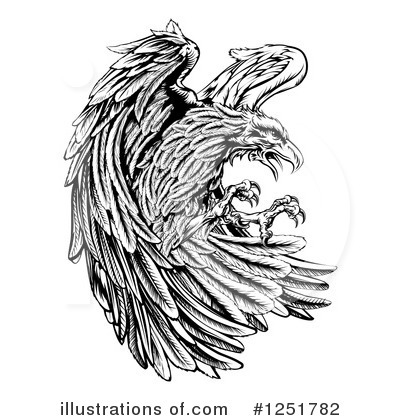 Royalty-Free (RF) Eagle Clipart Illustration by AtStockIllustration - Stock Sample #1251782