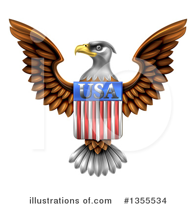 Bald Eagle Clipart #1355534 by AtStockIllustration