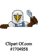 Eagle Clipart #1704958 by AtStockIllustration