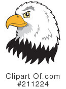 Royalty-Free (RF) Eagle Clipart Illustration #211224