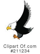 Royalty-Free (RF) Eagle Clipart Illustration #211234