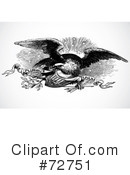 Royalty-Free (RF) Eagle Clipart Illustration #72751