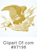 Royalty-Free (RF) Eagle Clipart Illustration #97196
