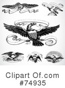 Royalty-Free (RF) Eagles Clipart Illustration #74935