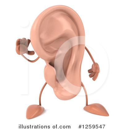 Ear Character Clipart #1259547 by Julos