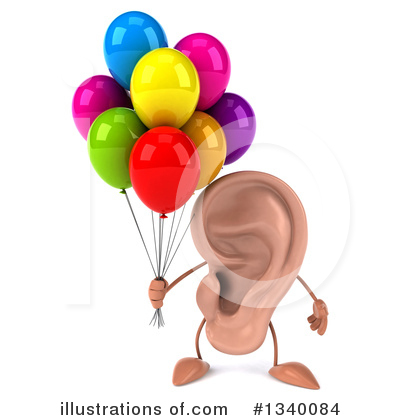 Ear Character Clipart #1340084 by Julos