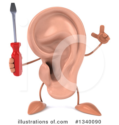 Ear Character Clipart #1340090 by Julos