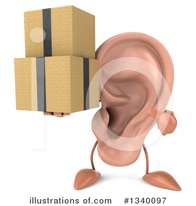 Ear Character Clipart #1340097 by Julos