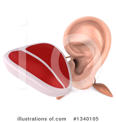 Ear Character Clipart #1340105 by Julos