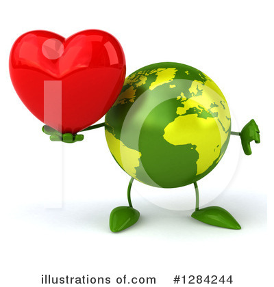 Royalty-Free (RF) Earth Character Clipart Illustration by Julos - Stock Sample #1284244