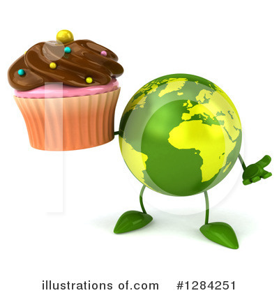 Royalty-Free (RF) Earth Character Clipart Illustration by Julos - Stock Sample #1284251