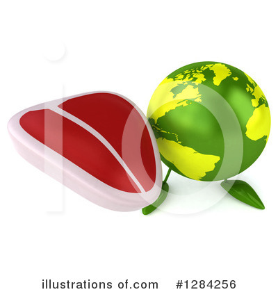 Royalty-Free (RF) Earth Character Clipart Illustration by Julos - Stock Sample #1284256