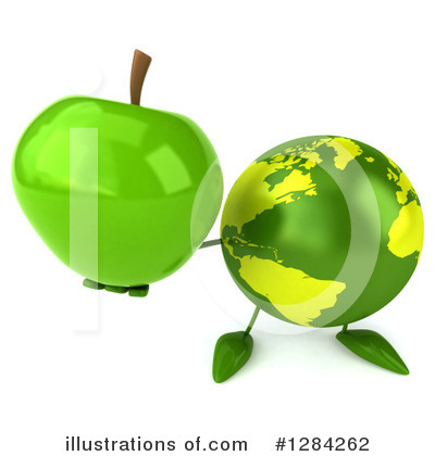 Royalty-Free (RF) Earth Character Clipart Illustration by Julos - Stock Sample #1284262