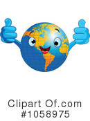 Royalty-Free (RF) Earth Clipart Illustration #1058975