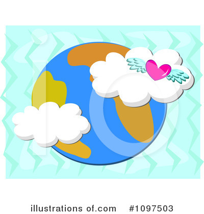 Winged Heart Clipart #1097503 by bpearth