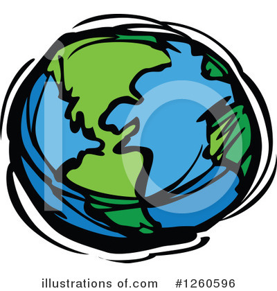 Globe Clipart #1260596 by Chromaco