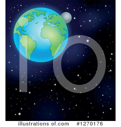 Royalty-Free (RF) Earth Clipart Illustration by visekart - Stock Sample #1270176