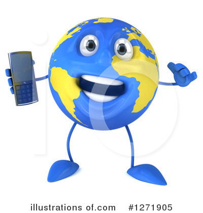 Royalty-Free (RF) Earth Clipart Illustration by Julos - Stock Sample #1271905