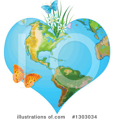 Royalty-Free (RF) Earth Clipart Illustration by Pushkin - Stock Sample #1303034