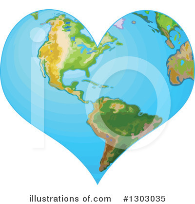 Royalty-Free (RF) Earth Clipart Illustration by Pushkin - Stock Sample #1303035