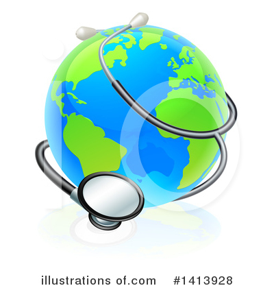 Stethoscope Clipart #1413928 by AtStockIllustration