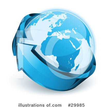 Royalty-Free (RF) Earth Clipart Illustration by beboy - Stock Sample #29985