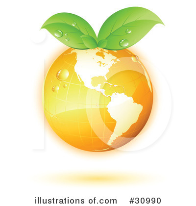 Royalty-Free (RF) Earth Clipart Illustration by beboy - Stock Sample #30990