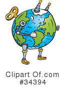 Royalty-Free (RF) Earth Clipart Illustration #34394