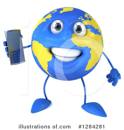 Royalty-Free (RF) Earth Mascot Clipart Illustration by Julos - Stock Sample #1284281