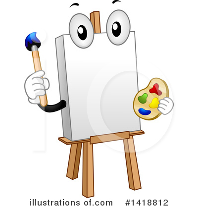 Paintbrush Clipart #1418812 by BNP Design Studio