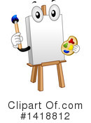 Royalty-Free (RF) Easel Clipart Illustration #1418812