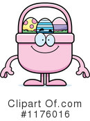 Royalty-Free (RF) Easter Basket Clipart Illustration #1176016