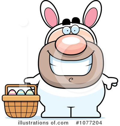 Easter Bunny Clipart #1077204 by Cory Thoman