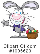 Easter Bunny Clipart #1096620 by Hit Toon