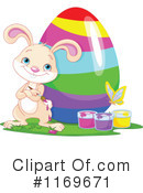 Easter Bunny Clipart #1169671 by Pushkin