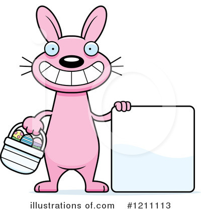 Easter Bunny Clipart #1211113 - Illustration by Cory Thoman